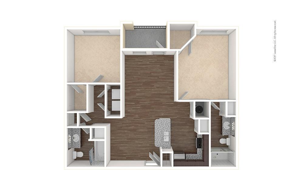 B1 2 bedroom 2 bath 1103 square feet (1)