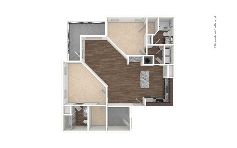 B3 2 bedroom 2 bath 1280 square feet (1)