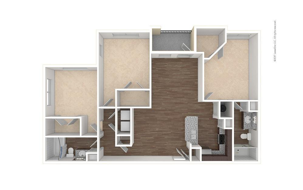 C1 3 bedroom 2 bath 1380 square feet (1)