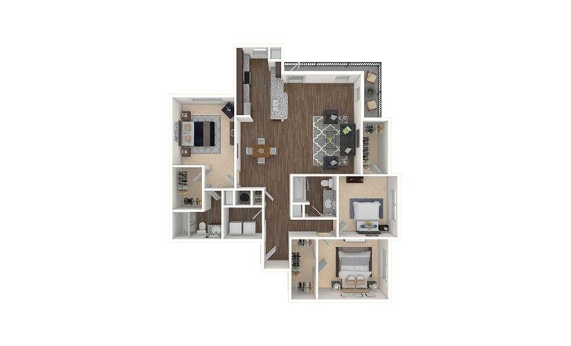 C2 3 bedroom 2 bath 1469 square feet