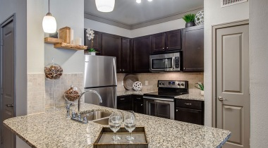 Spacious apartment kitchen at our luxury apartments in Katy, TX