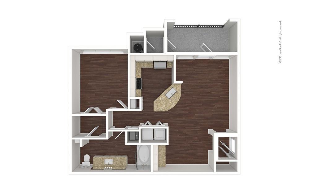 A2 1 bedroom 1 bath 840 square feet (1)