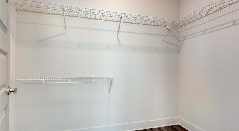 Spacious walk-in closets at our upscale apartments in Broomfield, CO