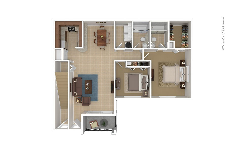 Gulf South 2 2 bedroom 2 bath 1102 square feet