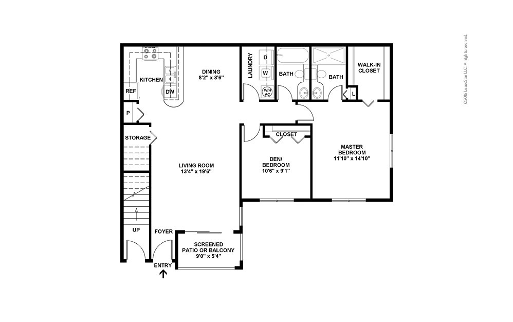 Gulf South 2 2 bedroom 2 bath 1102 square feet (2)