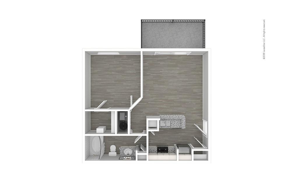 Botanical Premium 1 bedroom 1 bath 609 square feet (1)