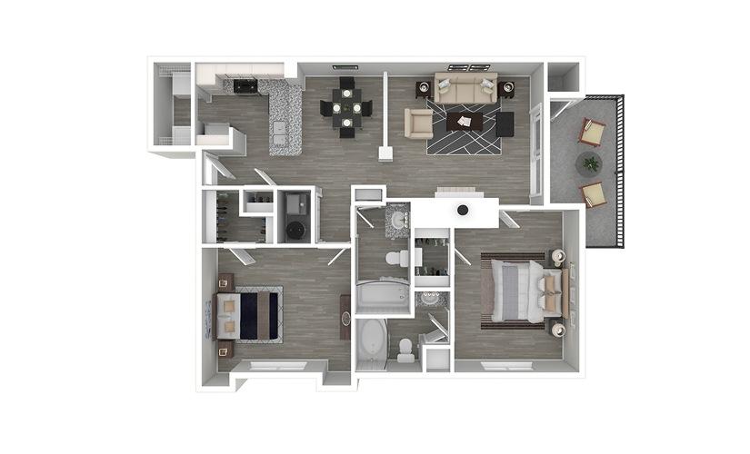 Descanso 2 bedroom 2 bath 1076 square feet