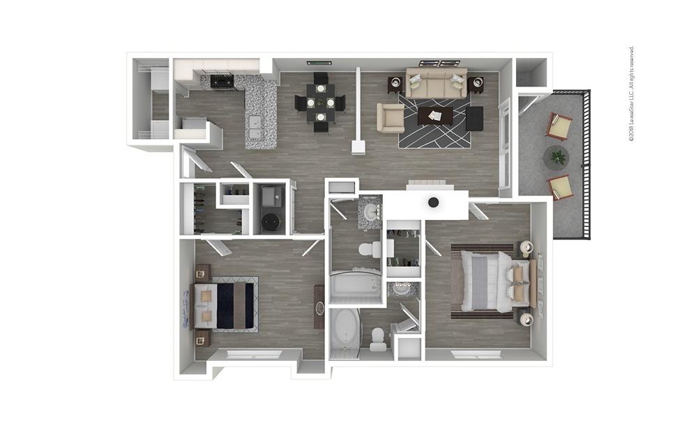 Descanso Premium 2 bedroom 2 bath 1076 square feet
