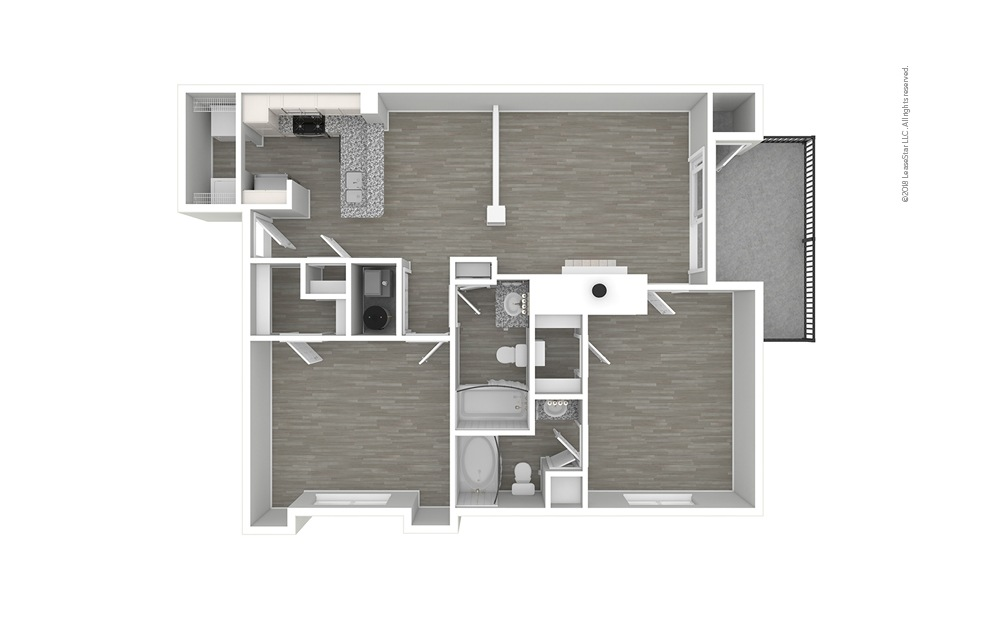 Descanso Premium 2 bedroom 2 bath 1076 square feet (1)