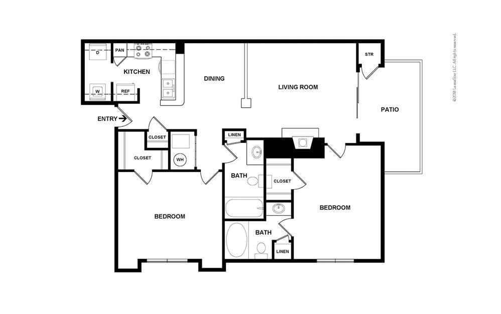 Descanso Premium 2 bedroom 2 bath 1076 square feet (2)