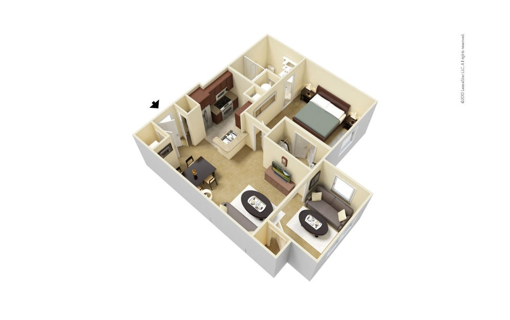 A2 Overton - Extended Living Room