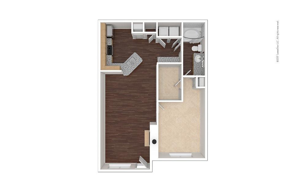 A3 1 bedroom 1 bath 854 square feet (1)