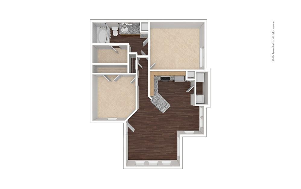 B1 2 bedroom 1 bath 922 square feet (1)