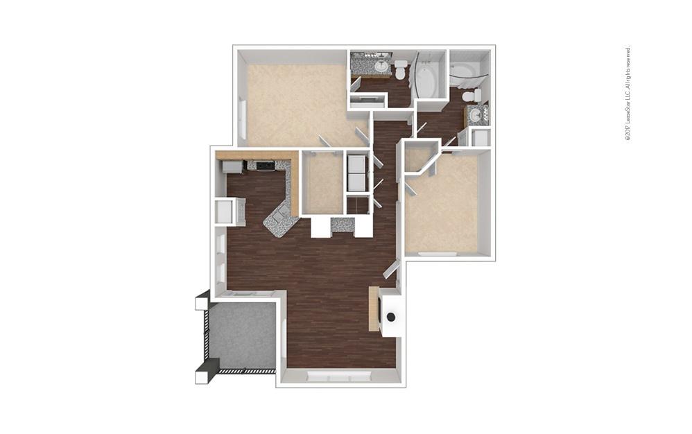 B4 2 bedroom 2 bath 1224 square feet (1)