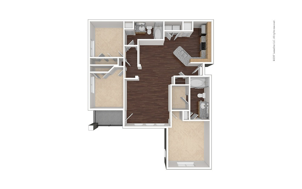 C1 3 bedroom 2 bath 1281 square feet (1)