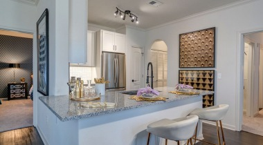 Kitchen breakfast bar at apartments in Willowbrook