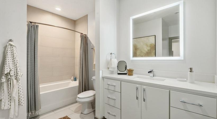 Spacious 1 bedroom apartment floor plan at Cortland Westshore