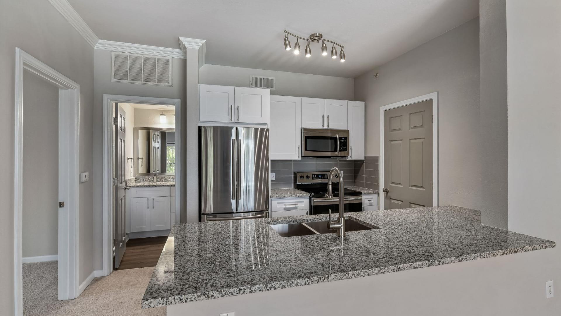 Spacious apartment floor plan at Stoneleigh at Bear Creek