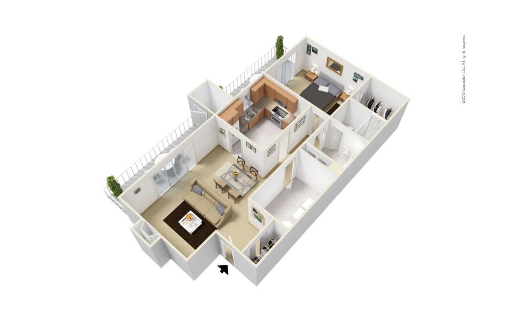 Channel 1 bedroom 1 bath 944 square feet