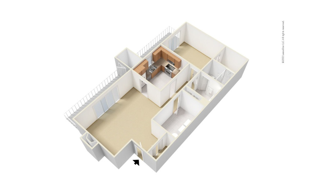 Channel 1 bedroom 1 bath 944 square feet (1)