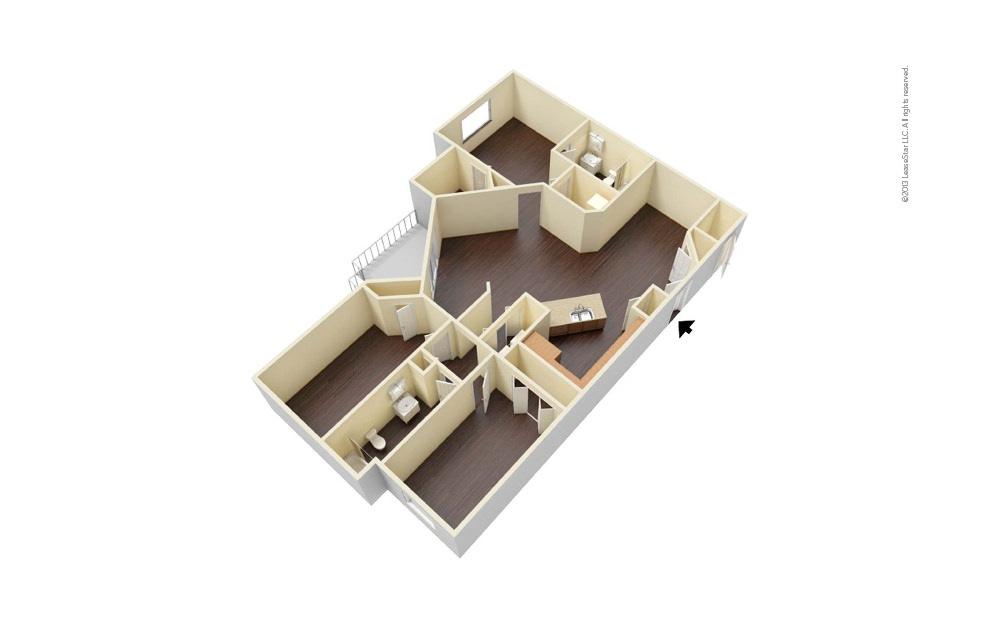 Executive 3 bedroom 2 bath 1282 square feet (1)