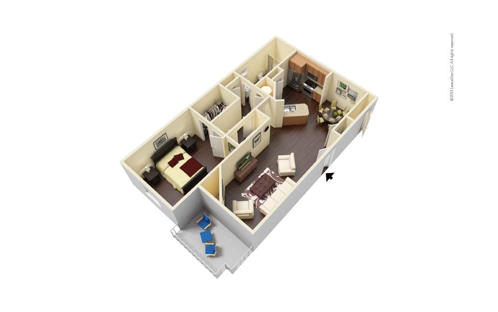 Wimbledon West 1 bedroom 1 bath 777 square feet