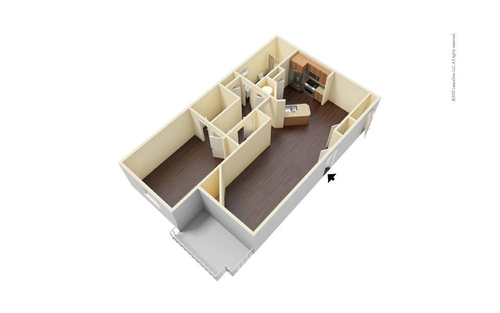 Wimbledon West 1 bedroom 1 bath 777 square feet (1)