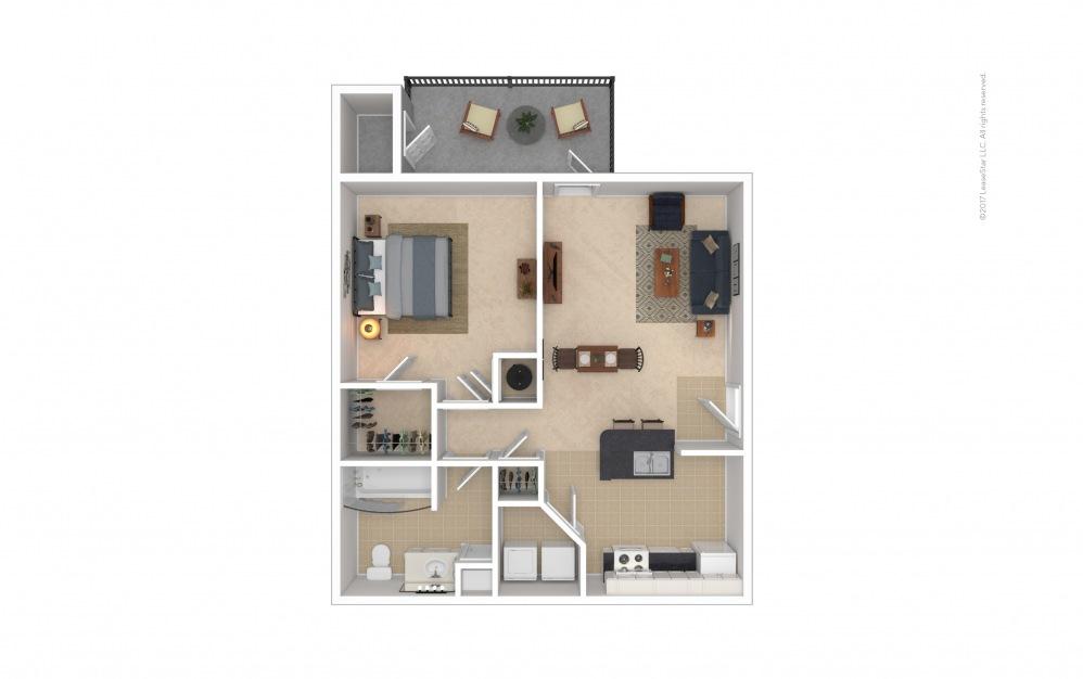 Alexander 1 bedroom 1 bath 772 square feet