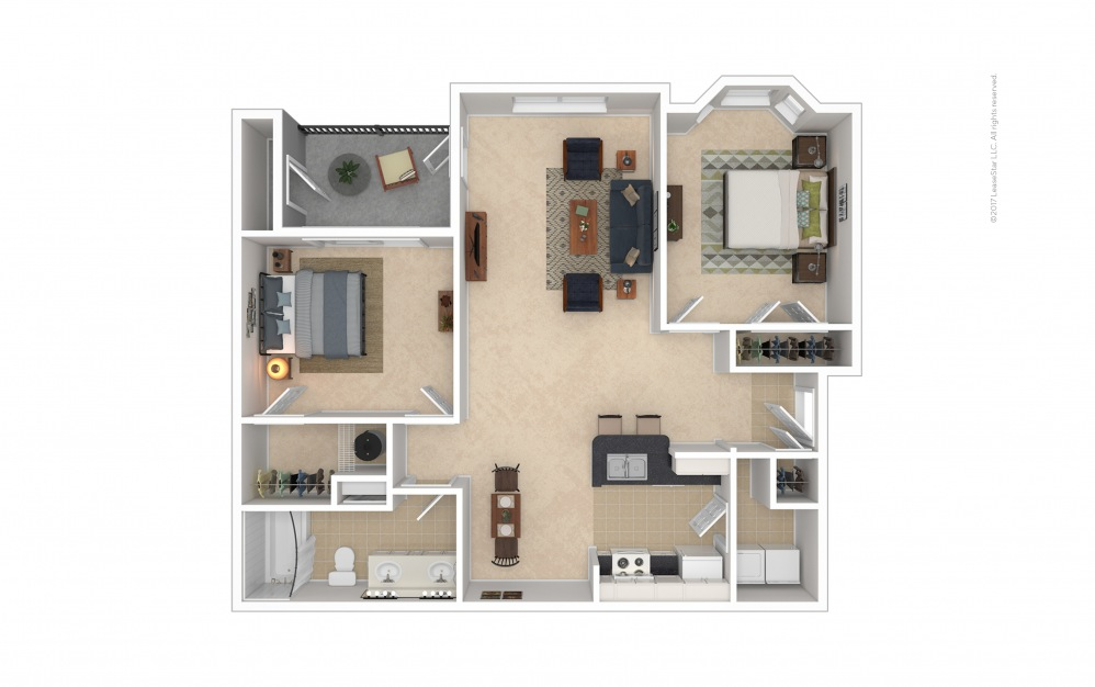 Caswell 2 bedroom 1 bath 1031 square feet