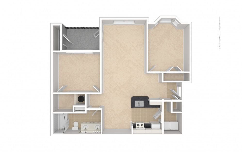 Caswell 2 bedroom 1 bath 1031 square feet (1)