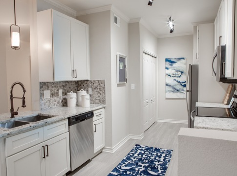 Modern apartment kitchen at Cortland Fossil Creek