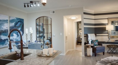 Spacious apartment floor plan with 10-foot ceilings at our Western Center apartments
