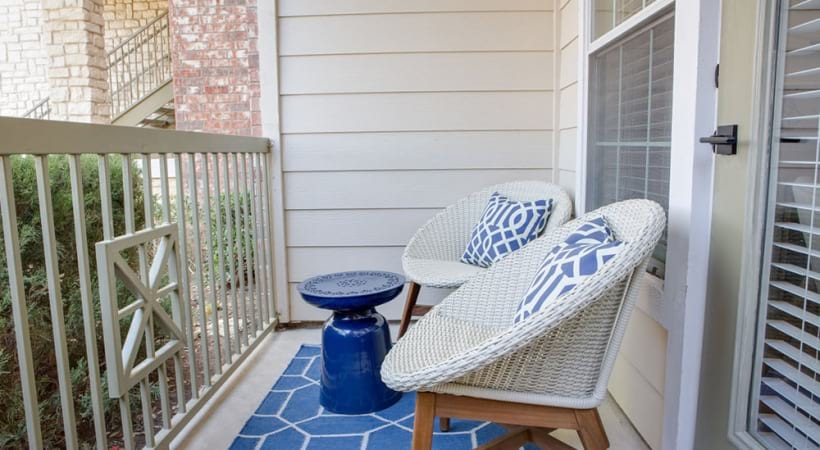 Personal patios at apartments in Fort Worth