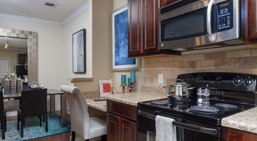 Energy efficient appliances at Alliance Town Center apartments