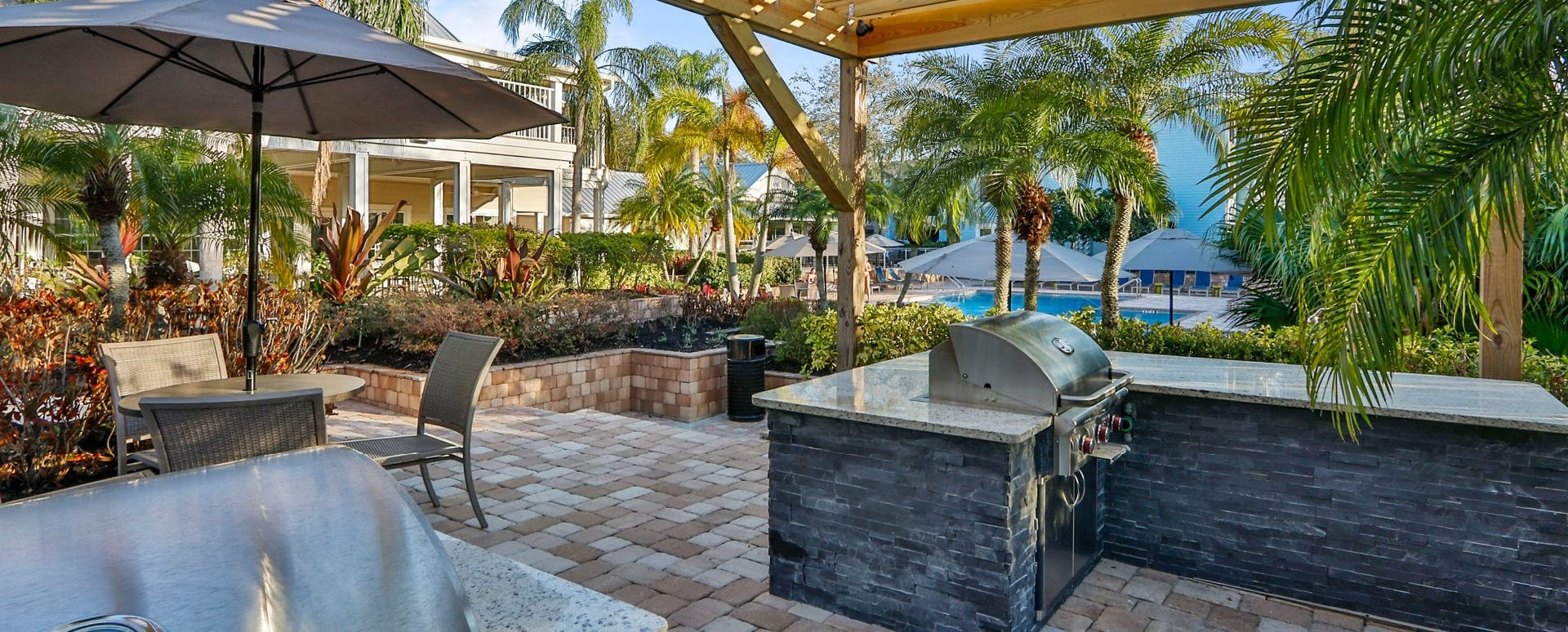 Outdoor gas grills at apartments in South Tampa Florida