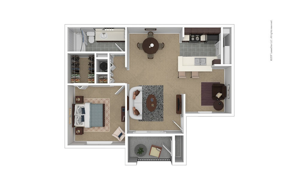 Clearwater 1 bedroom 1 bath 757 square feet