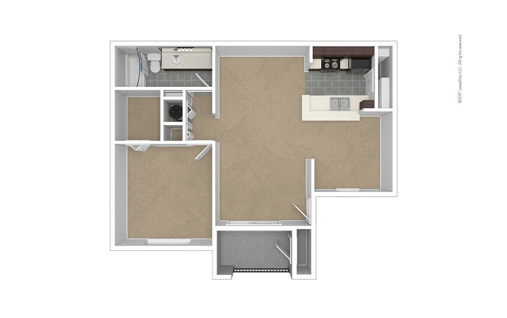 Clearwater 1 bedroom 1 bath 757 square feet (1)