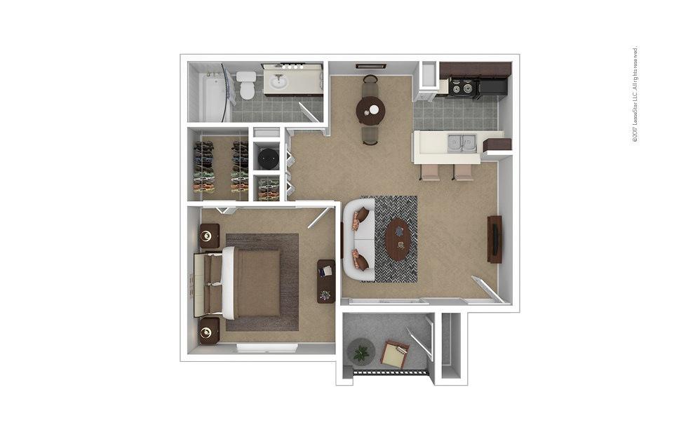 Reddington 1 bedroom 1 bath 616 square feet