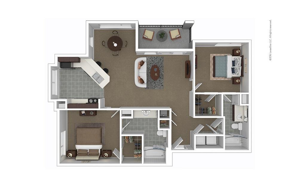 Lucia 2 bedroom 2 bath 1126 square feet