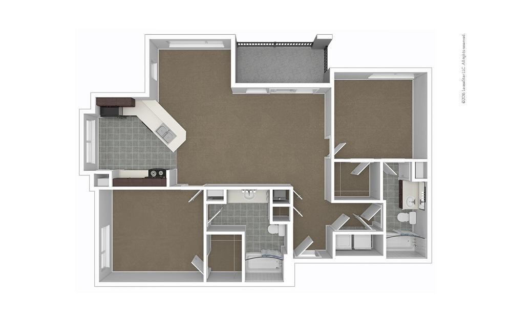 Lucia 2 bedroom 2 bath 1126 square feet (1)