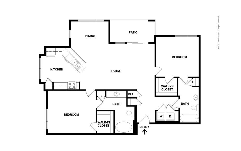 Lucia 2 bedroom 2 bath 1126 square feet (2)