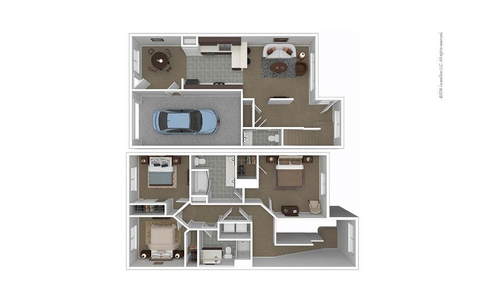 Mt. Holly 3 bedroom 2.5 bath 1404 square feet