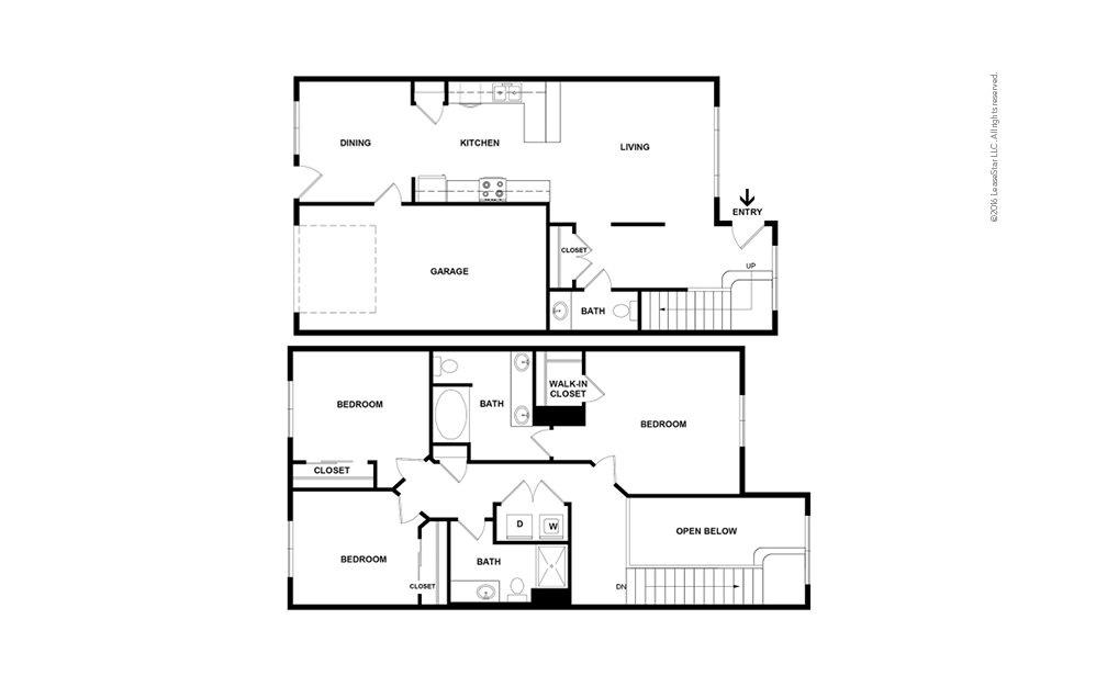Mt. Holly 3 bedroom 2.5 bath 1404 square feet (2)