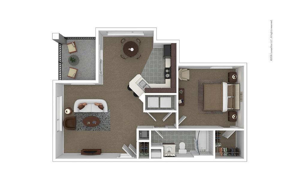 Caldwell 1 bedroom 1 bath 759 - 781 square feet
