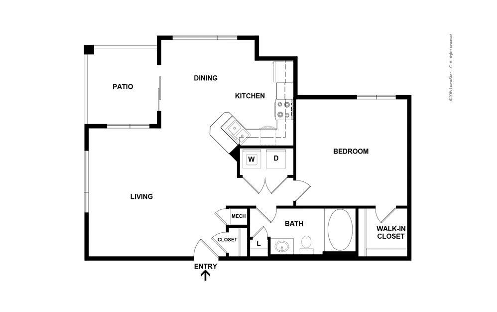 Caldwell 1 bedroom 1 bath 759 - 781 square feet (2)