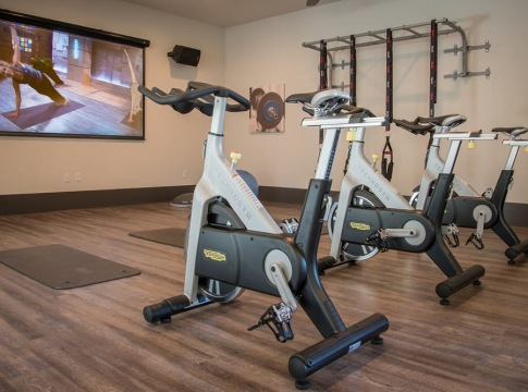Spin studio at apartments in Jersey Village