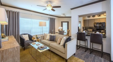 Living room in apartments for rent in Houston TX