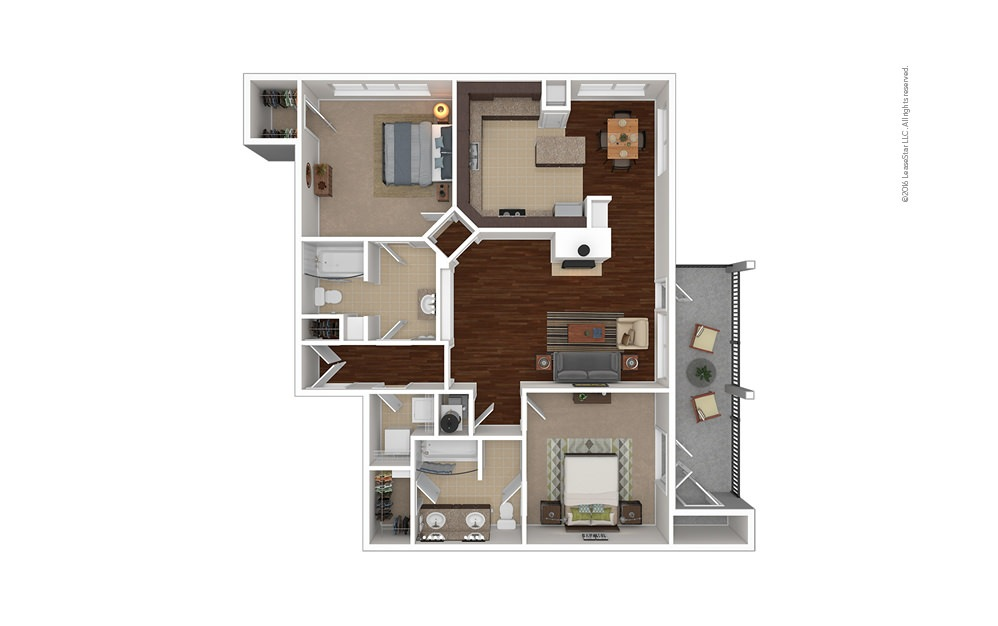 Rearden 2 bedroom 2 bath 1338 square feet