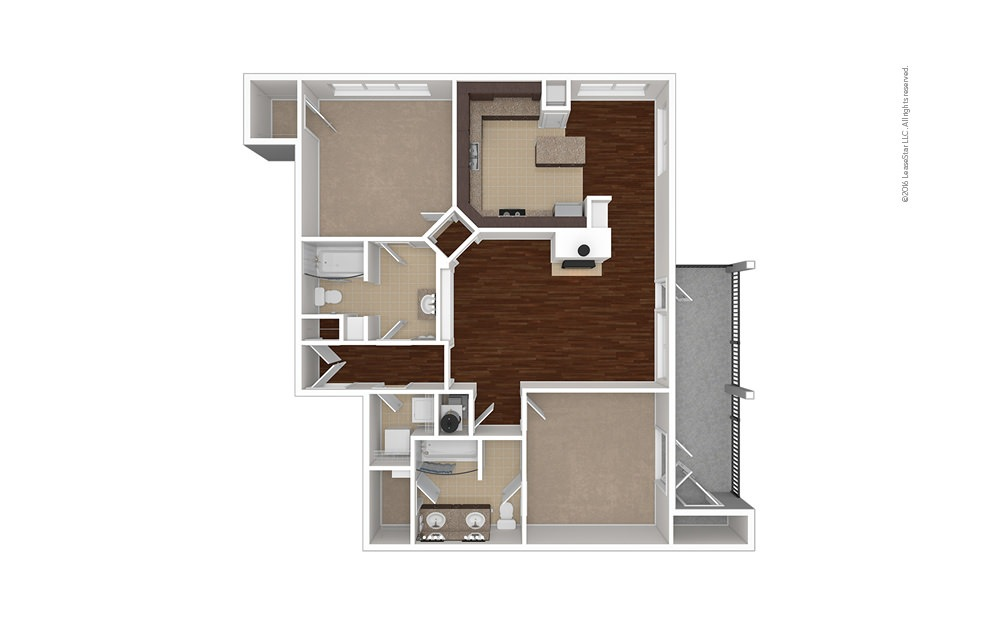 Rearden 2 bedroom 2 bath 1338 square feet (1)