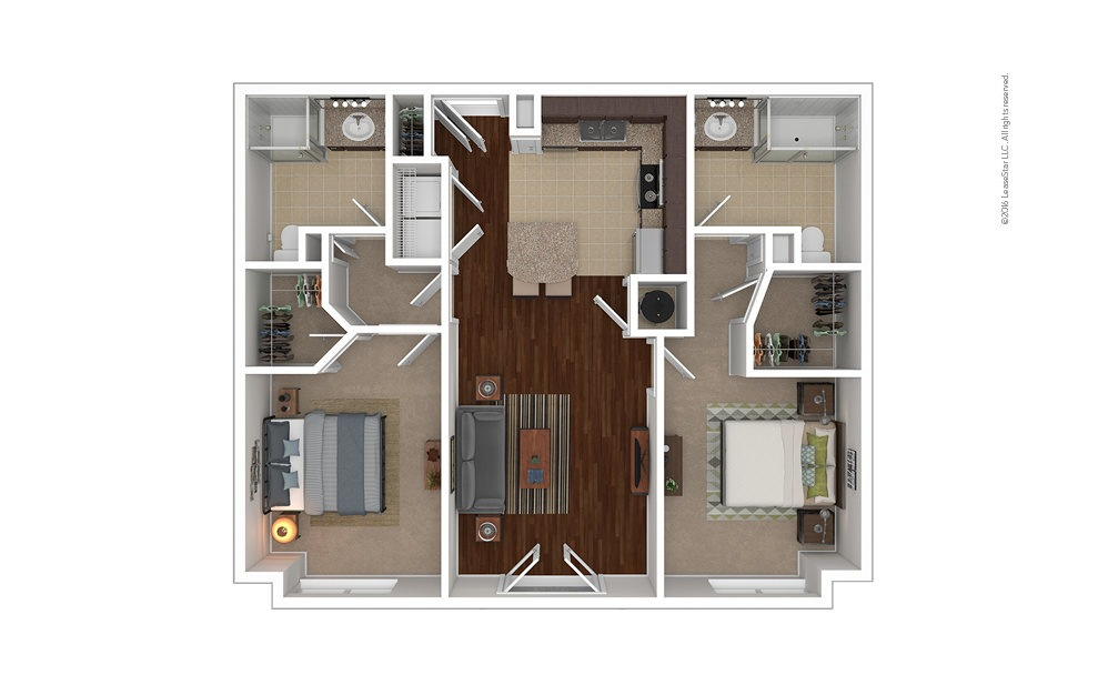 Weatherby 2 bedroom 2 bath 1067 square feet